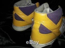 Converse Weapon Men's Basketball Shoes Hi Tops Purple Gold Magic Johnson