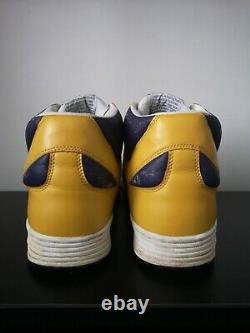 Converse Weapon Yellow Mid Trainers Magic Johnson Lakers UK 10 US 11