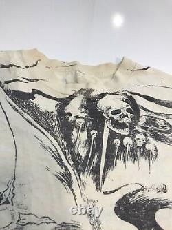 Crazy Single Stitch Vintage Wizard Genie T-shirt T All over print XL 2 Sided