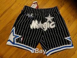 Custom Mitchell & Ness Orlando Magic Just Don Style Basketball Swingman Shorts