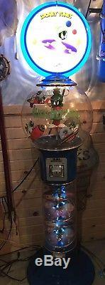 DISC MAN Giant 6ft Magic Gumball Machine NO KEY Marvin Martian Looney Tunes