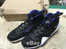 Ds Mens Nike Air Penny V 537331 040 Orlando Magic Black Royal White Sz 12 Free