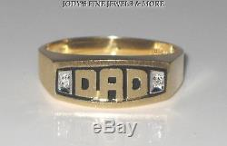 EXQUISITE ESTATE 10K YELLOW GOLD MENS DAD DIAMOND RING BAND Size 9.75 MAGIC GLO
