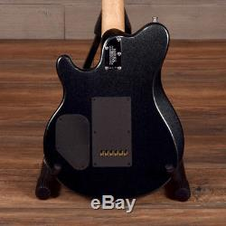 Ernie Ball Music Man Axis Super Sport Electric Guitar Black Magic Crystal withCase