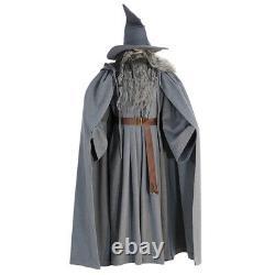 Gandalf Thick woolen Costume The Hobbit Wizard Cloak Hat Cosplay Suit with Wig
