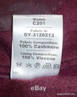 HIDEOKI Bespoke Blazer Mens 48 XL Burgundy 100% Cashmere Magic Johnson 11/20/15