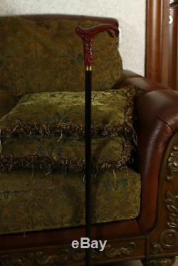 Handmade Walking Cane Stick Magic#2 Brown wooden shaft for men women desig MYO17