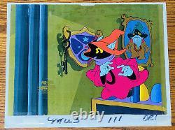 He-man Motu Original Animation Production Cel Orko & Trollan Wizard Filmaton Coa