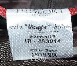 Hideoki Bespoke Blazer Men 48 XL Brown Flannel 6x2 DB Magic Johnson 9/2/2015