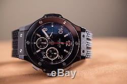 Hublot Big Bang Black Magic 301. Cx. 130. Rx 44mm Men's Wrist Watch $17,100 New