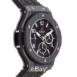 Hublot Big Bang Black Magic Chrono Auto Ceramic Mens Strap Watch 301. CX. 130. RX