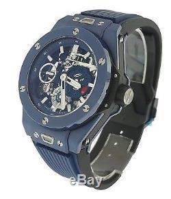 Hublot Big Bang Meca-10 Blue Magic Men's Watch NEW! MSRP $22,000.00