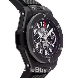 Hublot Big Bang Unico Black Magic Auto 45mm Ceramic Mens Watch 411. CI. 1170. RX