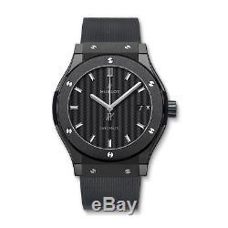 Hublot Classic Fusion Black Magic 45mm Automatic Ceramic Mens Watch Ref 511. CM. 1