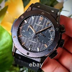 Hublot Classic Fusion Men's Black Watch Chronograph Black Magic 521. CM. 1771. RX