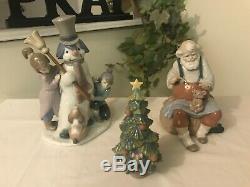 Lladro The Snow Man 5713 Santas Magic Touch 6774 Christmas Tree 6261 Fast Ship