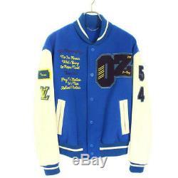 Louis Vuitton Virgil Abloh Wizard of Oz Varsity Jacket Blue Size 50