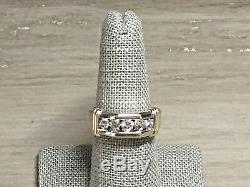 Magic Glo Men's 14K White Gold. 85 Ct Diamond Wedding Band Ring Size 8