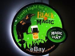 Magic Hat Brewing Company Black Magic Led Bar Sign Man Cave #9 New