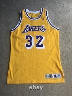 Magic Johnson Lakers Pro Cut Jersey 1996-97 Nba@50 Gold Logo Size 48+4