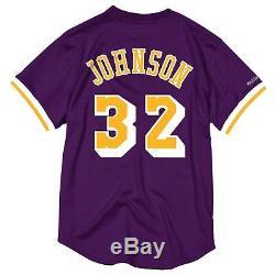 Magic Johnson Los Angeles Lakers Men's Purple Mesh Jersey Shirt XL