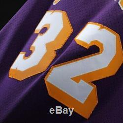 Magic Johnson Los Angeles Lakers Mitchell & Ness 1984-85 Swingman Jersey- Purple