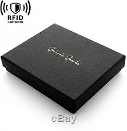 Magic Wallet Flap Boy Slim RFID Blocking For Men Genuine Leather Card Id Cash