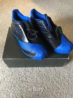 Men's Adidas TMAC 1 Tracy McGrady Black/Blue Sz. 9.5 Magic Retro