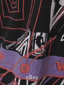 Men's Magic Johnson T's Michael Jordan T-Shirt Air Jumpman Retro Vtg Bulls NBA L