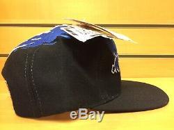 Men's Vintage 90's Logo Athletic NBA MAGIC Paintbrush Splash Snapback Hat Cap