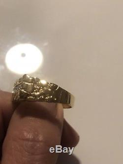 Mens 10k Yellow Gold Magic Glow. 02ct Diamond Ring Size 9.5 4.66gr