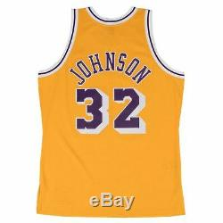 Mens Mitchell & Ness NBA Swingman Home Jersey Lakers 84 Magic Johnson
