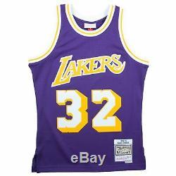 Mens Mitchell & Ness NBA Swingman Road Jersey Lakers 84 Magic Johnson