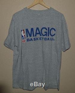 Mens Vintage VTG Orlando Magic Cotton Rayon T-Shirt size XL NBA Basketball
