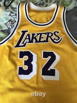 Mitchell & Ness NBA Lakers #32 Magic Johnson Jersey SZ 56. Worn Twice, No Tags