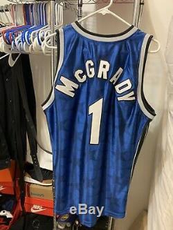 Mitchell & Ness Tracy McGrady Jersey Sz 44 LARGE Orlando Magic 100% AUTHENTIC 01