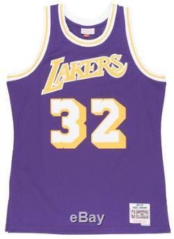 Mitchell and Ness Magic Johnson Los Angeles Lakers Swingman Jersey Mens Purple
