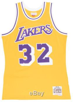 Mitchell and Ness Magic Johnson Los Angeles Lakers Swingman Jersey NBA Mens Gold