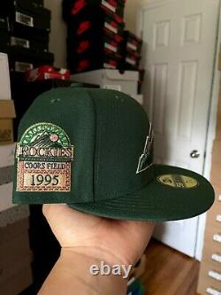 Myfitteds Magic Treehouse Colorado Rockies 7 3/8 Pink UV 1995 Coors Field Green
