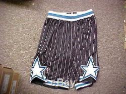 NBA Orlando Magic Throwback Black Team Issued Game Shorts Adidas Size 2XL+2