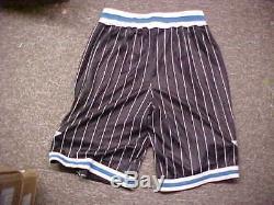 NBA Orlando Magic Throwback Black Team Issued Game Shorts Adidas Size Large+2