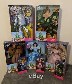NEW Barbie Wizard of Oz Dorothy Glinda Scarecrow Tin Man Lion Munchkins FULL SET