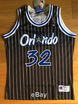 NEW Champion Shaq Shaquille O'Neal Authentic Orlando Magic jersey sz M, L, XS, S
