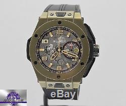 NEW HUBLOT Big Bang Ferrari Mens Magic Gold 45mm Skeleton Dial 401. MX. 0123. VR
