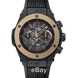 NEW Hublot Big Bang Skeleton Unico Magic Gold 45mm Watch Mens 411. CM. 1138. RX
