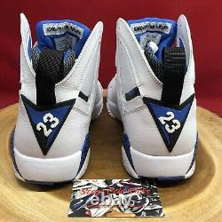 NIKE AIR JORDAN VII 7 RETRO DMP ORLANDO MAGIC White Blue Size 9 304775-161