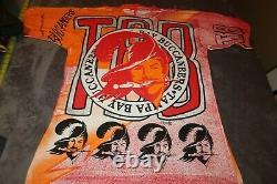 NWOT Vintage TAMPA BAY BUCS T-Shirt Magic Johnson's Ts Rare All Over PRINT NEW