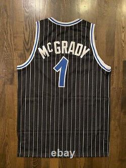 NWT Reebok Authentic TRACY MCGRADY #1 Orlando Magic Pinstripe Jersey 44 Large L