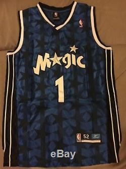 NWT Tracy McGrady #1 Orlando Magic Blue Black Star Throwback Jersey Men's