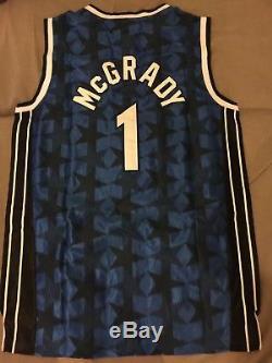 a788b56c NWT Tracy McGrady #1 Orlando Magic Blue Black Star Throwback Jersey Men's